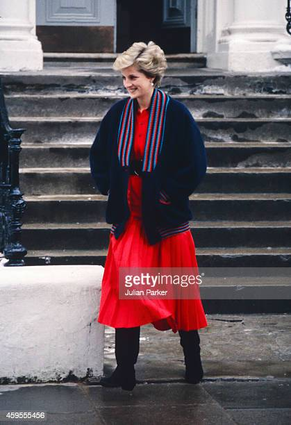 Diana Princess of Wales takes Prince William to his first day at Wetherby School on January 15 1987 in London United Kingdom