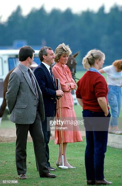 Diana Princess Of Wales Talking With Her Police Bodyguard Barry Mannakee Whilst Watching A Match At Guards Polo Clubsmiths Lawnwindsor After Spending...