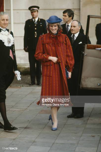 Diana, Princess of Wales , visiting the Guildhall after announcing her first pregnancy, London, UK, 5th November 1981.