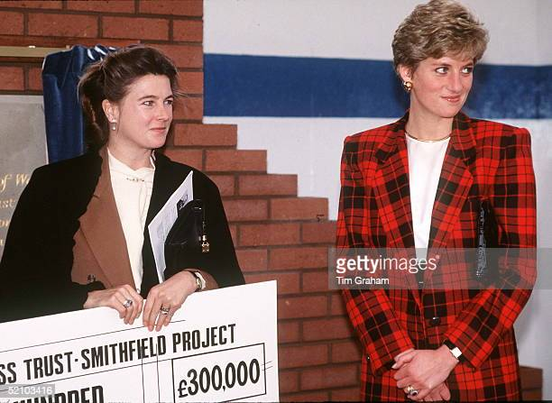 Diana Princess Of Wales Visiting The Guinness Trust Smithfield Project With The Marchioness Of Douro In Manchester The Marchioness Has Been Presented...