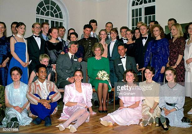 Diana Princess Of Wales Visiting The Studios Of The London City Ballet Of Which She Is Patron