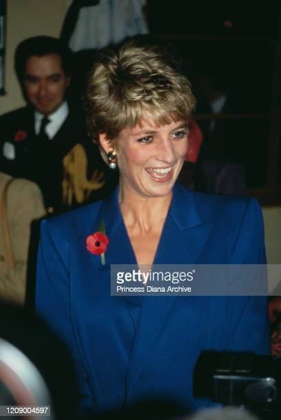 Diana, Princess of Wales visits a school for deaf and dumb children in Ulsan, South Korea, 5th November 1992.