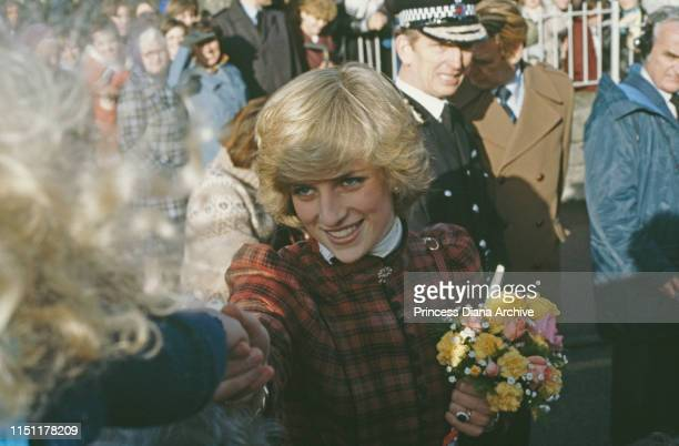 Diana Princess of Wales visits a school in Cirencester December 1982