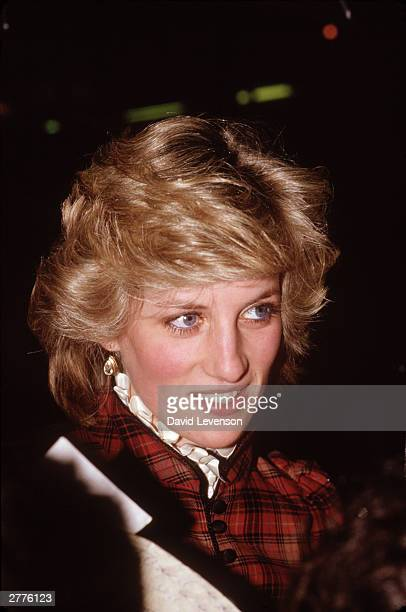 Diana Princess of Wales visits Bridgend on January 29 1985 in Wales