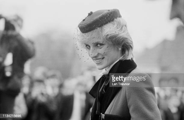 Diana Princess of Wales visits Colston's School in Bristol UK 19th November 1983