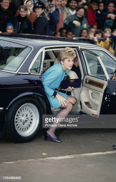 Diana Princess of Wales visits Elephant and Castle in London 10th December 1993