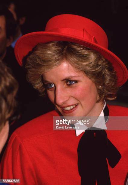 Diana Princess of Wales visits Gloucestershire Constabulary in Cirencester on February 22 1985