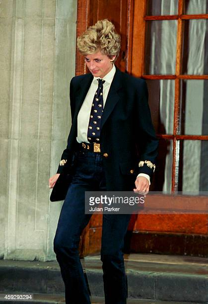 Diana, Princess of Wales visits her brother ,Charles Althrop's new baby at St Marys Hospital, Paddington, in West London, on March 15 in London,...