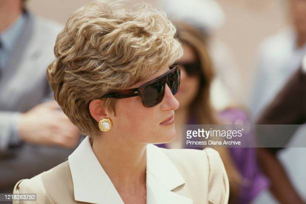 Diana, Princess of Wales visits Luxor in Egypt, 14th May 1992.
