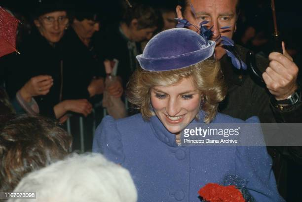 Diana Princess of Wales visits Newport in south Wales November 1984
