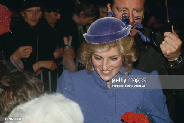 Diana, Princess of Wales visits Newport in south Wales, November 1984.