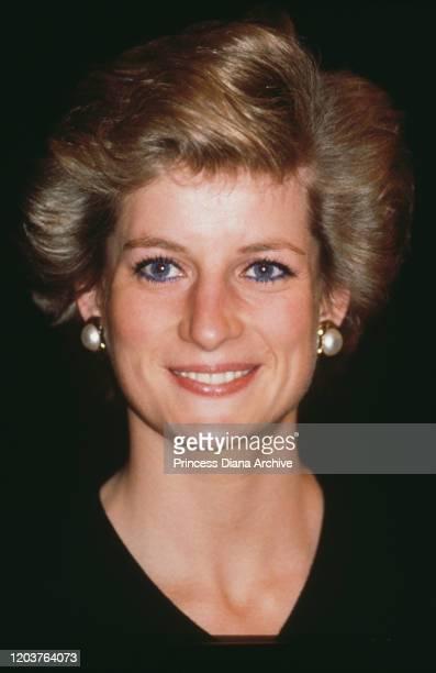 Diana, Princess of Wales visits RADA, the Royal Academy of Dramatic Art in London, November 1989.