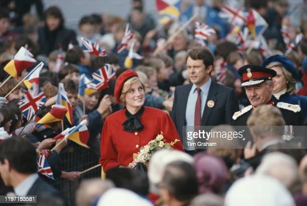 Diana Princess of Wales visits Southampton to launch the new cruise liner 'Royal Princess' UK 15th November 1984
