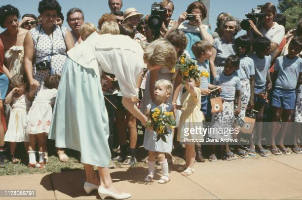 Diana Princess of Wales visits Tennant Creek in the Northern Territory of Australia March 1983