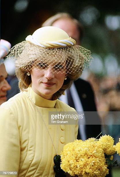 Diana Princess of Wales visits the Bay of Islands in New Zealand