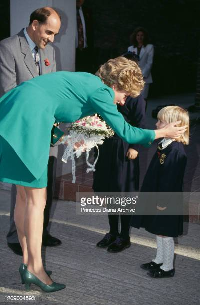 Diana Princess of Wales visits the British School in Seoul South Korea 4th November 1992