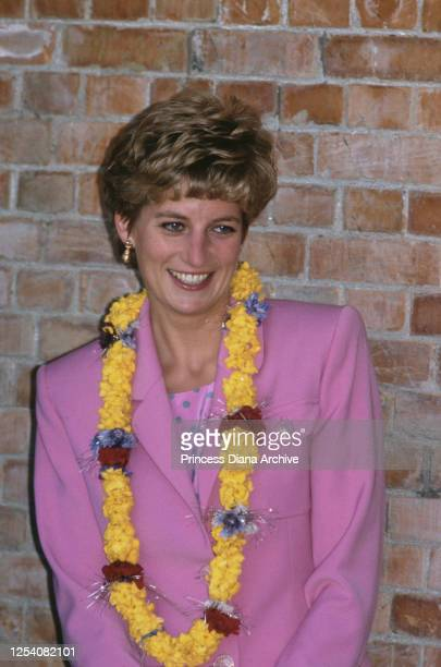 Diana, Princess of Wales visits the Budhanilkantha School in Kathmandu, Nepal, 4th March 1993.