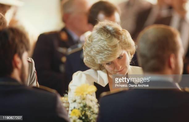 Diana, Princess of Wales visits the Bundeswehr University in Munich, Germany, November 1987.