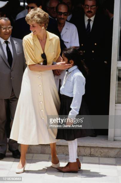 Diana, Princess of Wales visits the Cairo Institute for Polio and Rehabilitation in Cairo, Egypt, 11th May 1992.