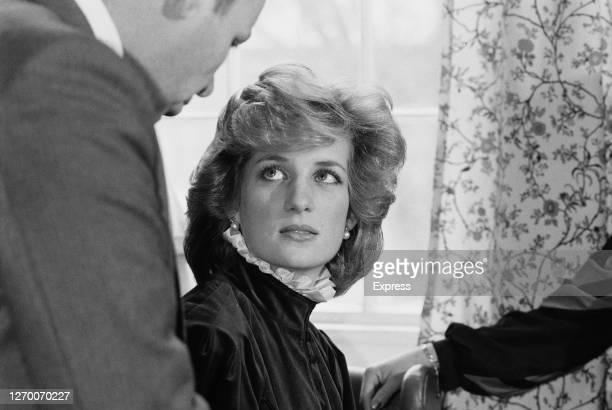 Diana, Princess of Wales visits the Horton Hospital in Epsom, Surrey, 16th January 1985.