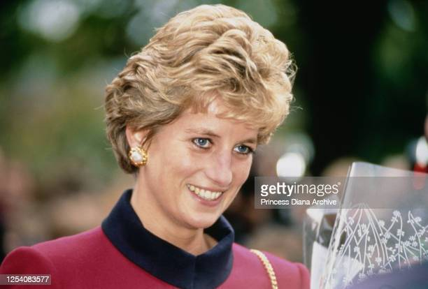 Diana, Princess of Wales visits the Hulme Crescents redevelopment project in Manchester, UK, 20th October 1993.