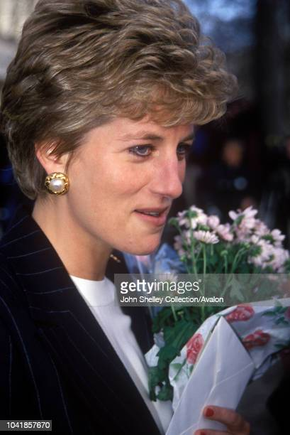 Diana, Princess of Wales, visits the Institute of Contemporary Art, London, 16th December 1993.