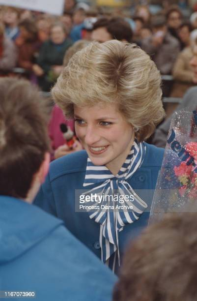 Diana, Princess of Wales visits the John Radcliffe Hospital in Oxford, UK, January 1986.