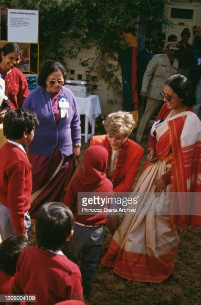 Diana Princess of Wales visits the Marie Stopes Clinic for planned pregnancy in Agra India 11th February 1992