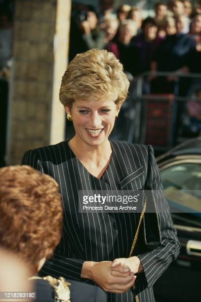 Diana, Princess of Wales visits the Missing Persons Bureau in Sheen, London, 4th October 1993.