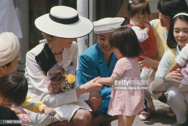 Diana Princess of Wales visits the Red Cross Infants' Home in Tokyo Japan May 1986