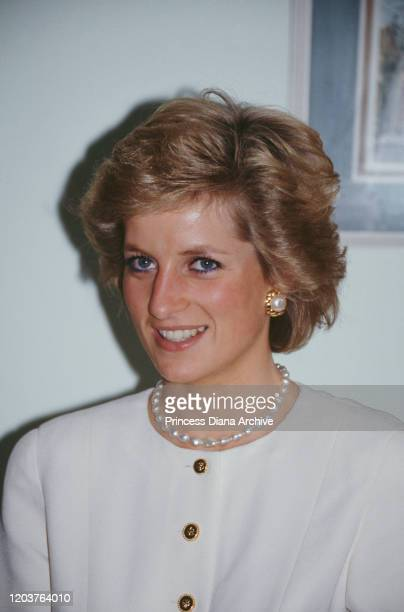 Diana, Princess of Wales visits the Relate offices in Northampton, UK, 9th October 1989.