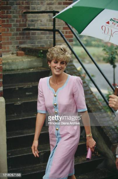 Diana, Princess of Wales visits the Royal National Orthopaedic Hospital in Stanmore, Greater London, 1st July 1992.