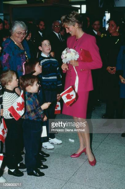 Diana Princess of Wales visits the Science Museum in Sudbury Canada 24th October 1991