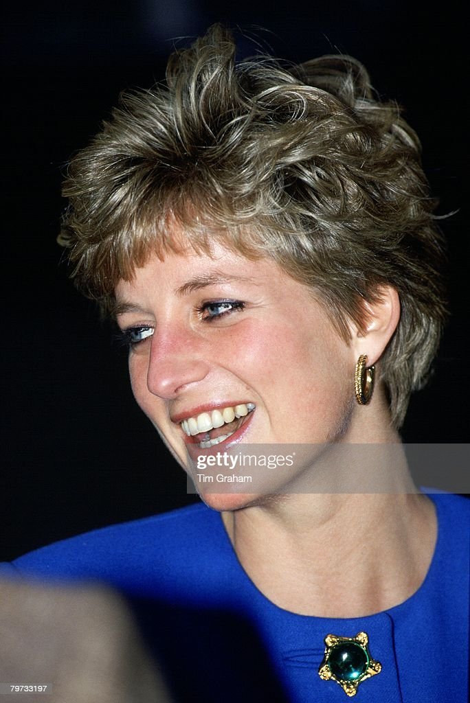 Diana, Princess of Wales visits the Shakespeare Centre in St : News Photo