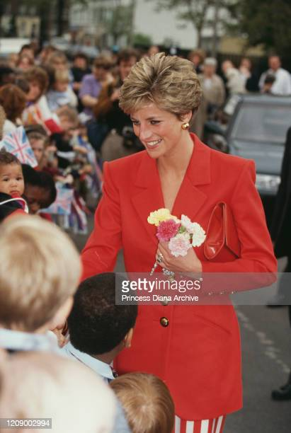 Diana Princess of Wales visits the St Luke's Centre for Alcohol Abuse part of the West London Mission in Lambeth London 23rd May 1991