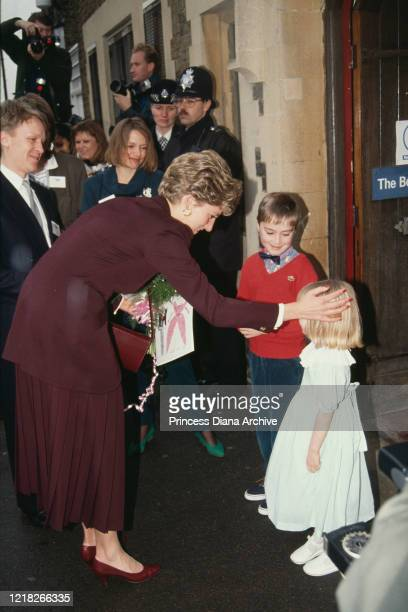 Diana, Princess of Wales visits the Turning Point project in Ealing, London, 12th March 1992.