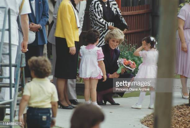 Diana Princess of Wales visits the Youth Projects multicultural centre for young people in Broadmeadows Melbourne Australia November 1985