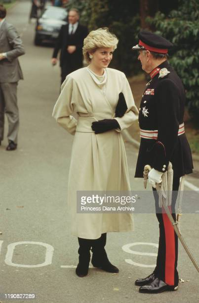 Diana, Princess of Wales visits Wokingham in Berkshire, England, March 1987.