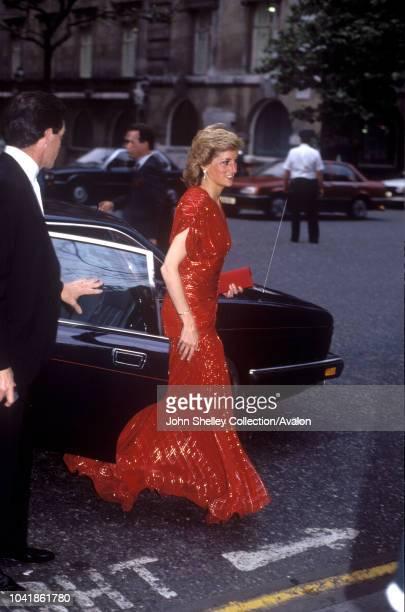 Diana, Princess of Wales, Waldorf Hotel, London, 10th July 1989.