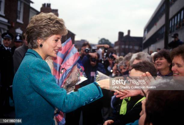 Diana, Princess of Wales, Walsall, 22nd October 1991.