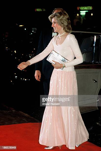 Diana Princess of Wales attends the musical 'Starlight Express' on March 30 1984 in London England
