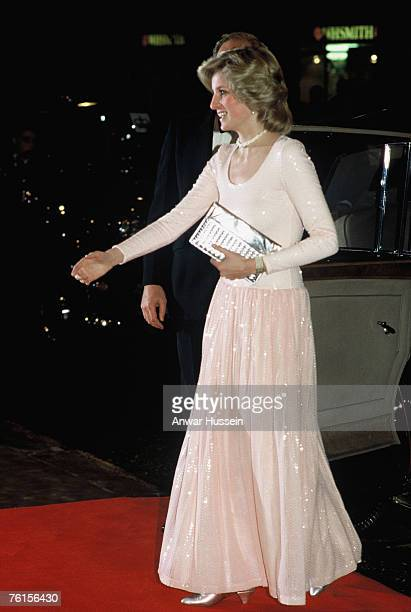 Princess Diana Princess of Wales attends the Starlight Express premiere in London in December 1984