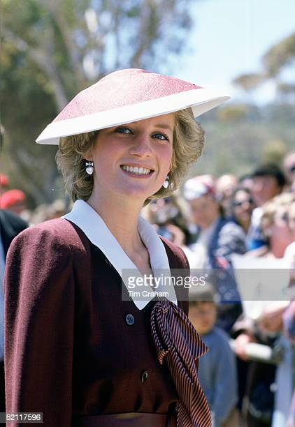 Diana Princess Of Wales Wearing A Flying Saucer Style Hat By Milliner Frederick Fox During A Visit To Italy
