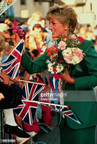 Princess Diana Princess of Wales chats to the public during a walkabout on November 04 1992 in Seoul South Korea