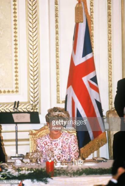 Princess Diana at an official state banquet in Seoul South Korea in November 1992 amid rumours of the break up of her marriage to Prince Charles