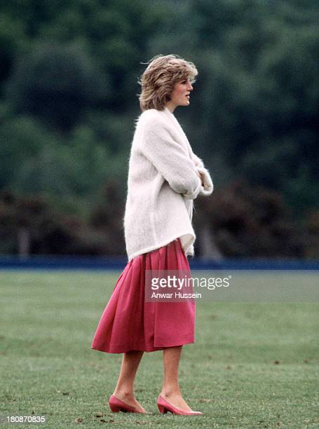 Princess Diana Princess of Wales attends a polo match at Windsor Great Park on June 07 1984 in Windsor England