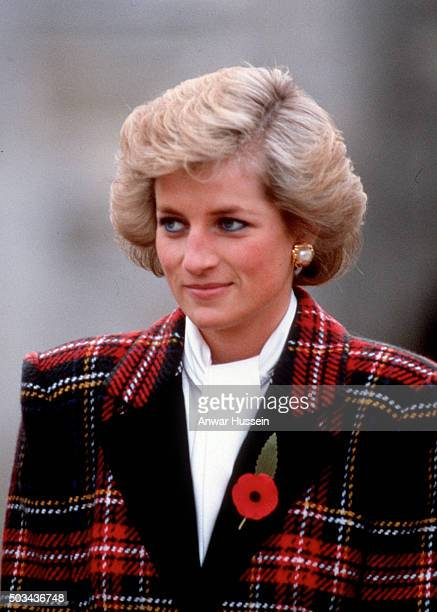 Diana Princess of Wales visits a chateau in the Loire Valley on November 07 1988 in Chenonceaux France