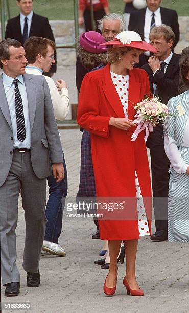 In this file photo Diana The Princess of Wales walks with her bodyguard Barry Mannakee at an International Deaf Youth Rally at Atlantic College in...