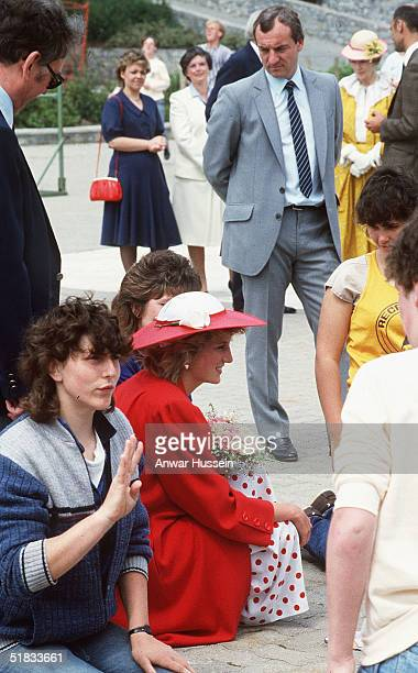 In this file photo Diana The Princess of Wales and her bodyguard Barry Mannakee attend an International Deaf Youth Rally at Atlantic College in June...