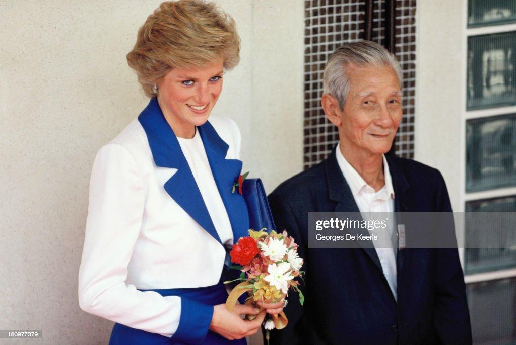 Princess Diana In Hong Kong : News Photo